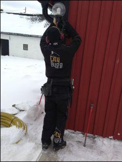 """Referensjobb """"Stommen är på plats 01/22/2013"""" utfört av City Bygg i Kalmar"""