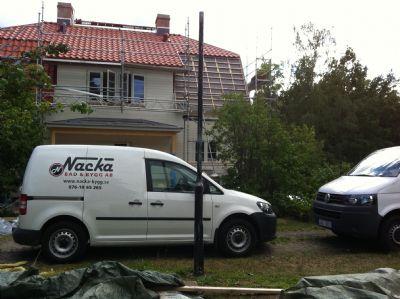 """Referensjobb """"Husrenovering i Waxholm."""" utfört av NACKA BAD OCH BYGG AB"""