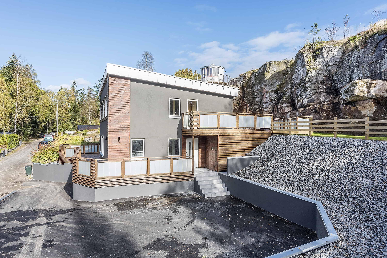 """Referensjobb """"Nybyggnation stenhus 17 000 kr/ m2 """" utfört av Mur Puts och Betong i Borås AB"""