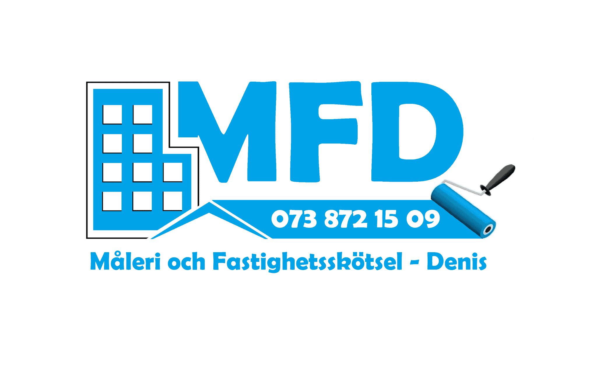 Logotyp för MFD (Måleri och Fastighetsskötsel Denis)