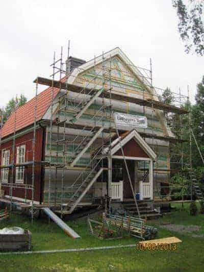 """Referensjobb """"Fasadbyte inkl. målning sommaren 2013"""" utfört av Luthagens Bygg"""