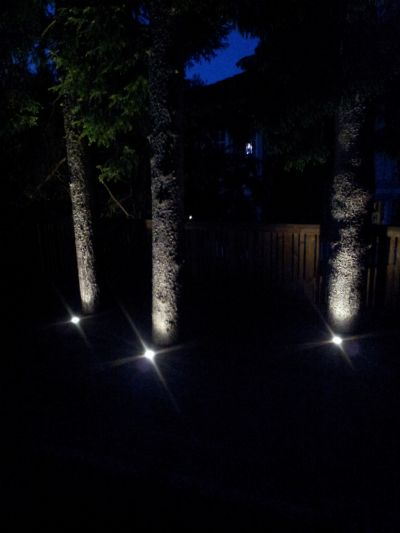"""Referensjobb """"Belysning trädgård"""" utfört av Saba Elservice AB"""