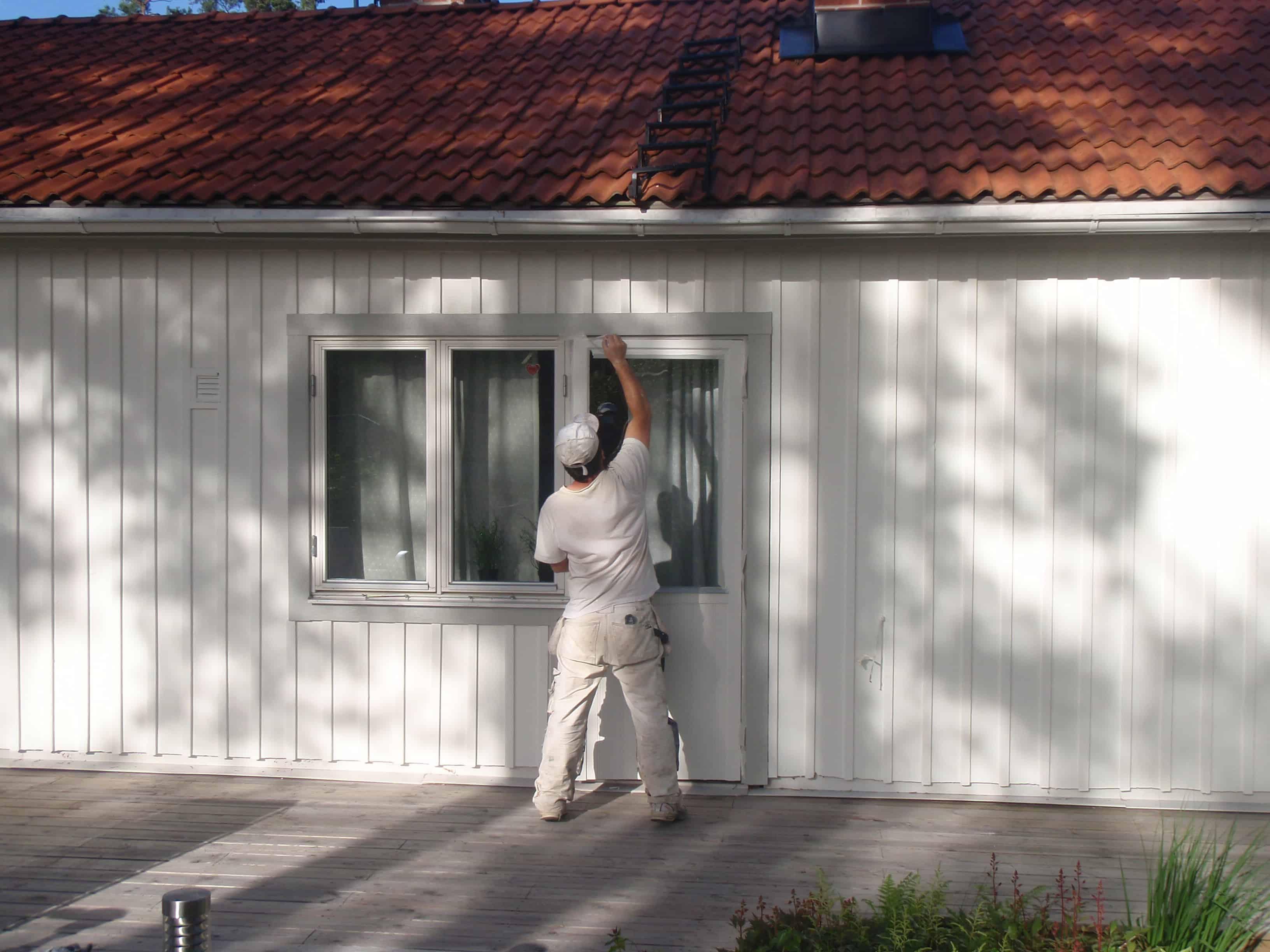 """Referensjobb """"Fasadmålning """" utfört av Gröna Bussen AB"""