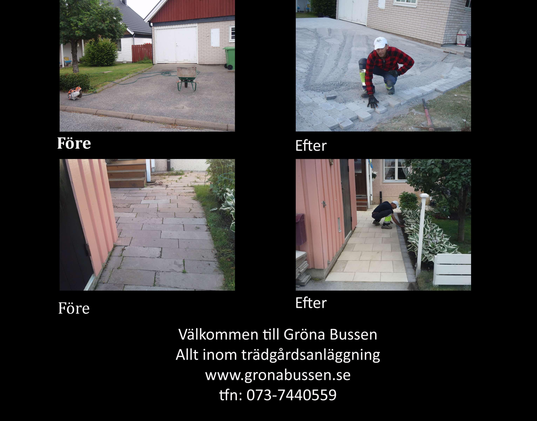 """Referensjobb """"Plattsättning"""" utfört av Gröna Bussen AB"""