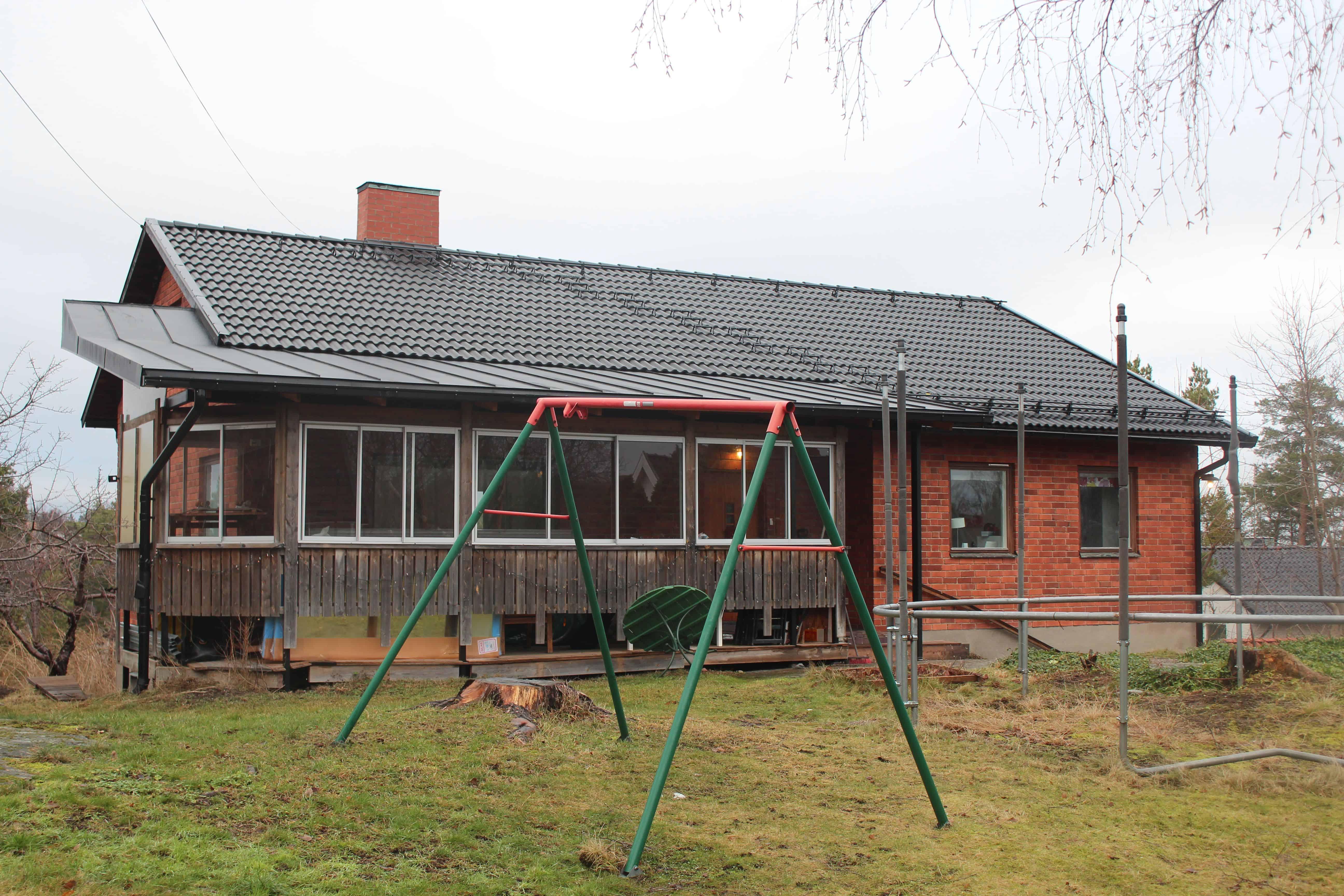 """Referensjobb """"Barrstigen 19, Lidingö"""" utfört av Takrenoverarna i Stockholm AB"""