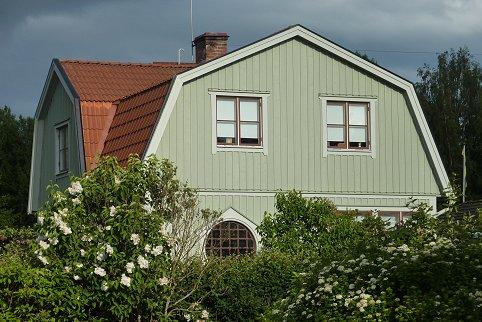 """Referensjobb """"Ljusgrönt hus"""" utfört av Gårda Måleri"""
