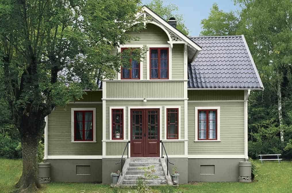"""Referensjobb """"Trähus i äldre stil"""" utfört av Gårda Måleri"""