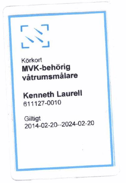"""Referensjobb """"MVK-behörig"""" utfört av Berga Bad & Bygg AB"""