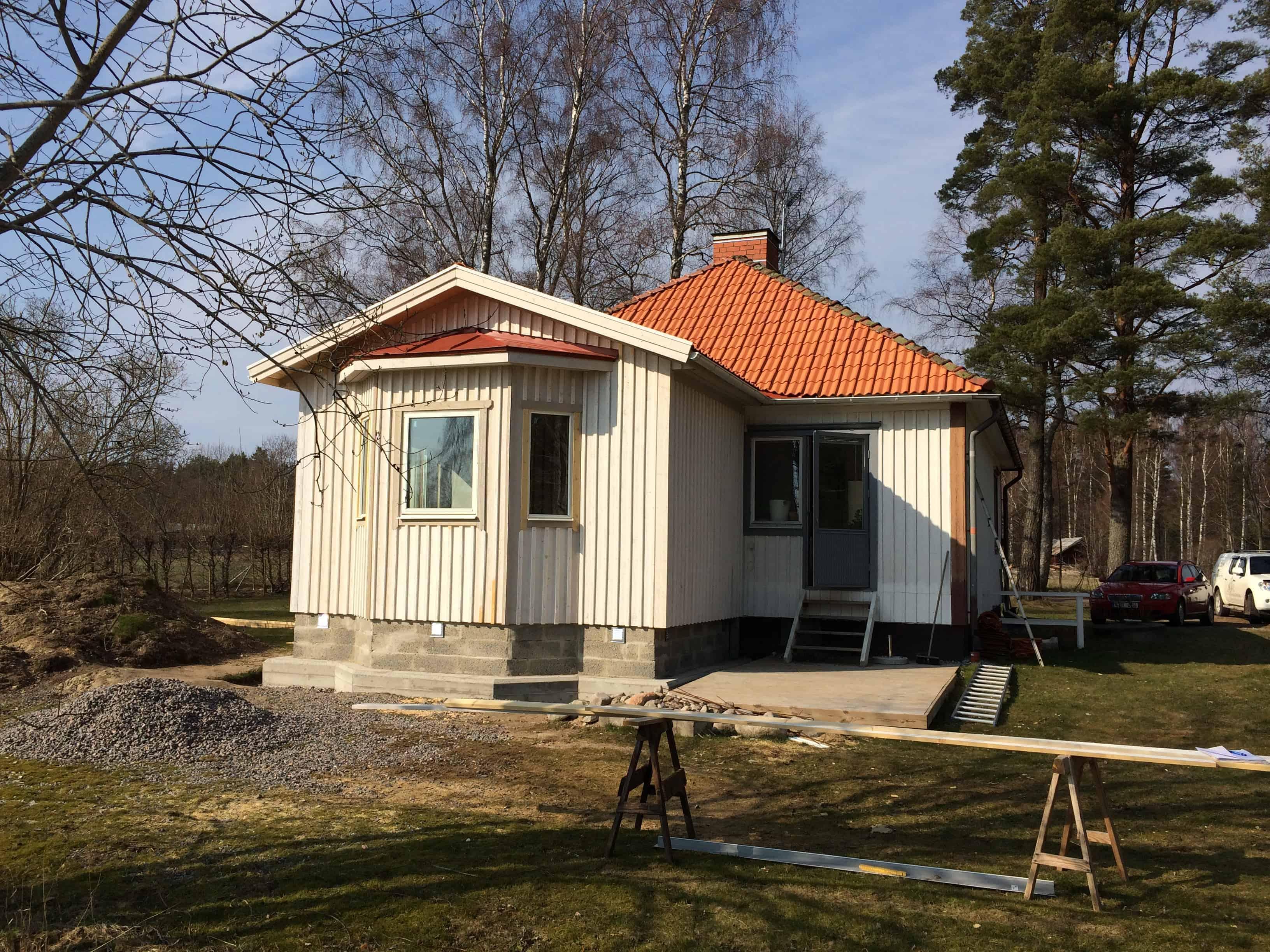 """Referensjobb """"Utbyggnad av hus i Karlbo """" utfört av Anders Ljungström Bygg & Montage AB"""