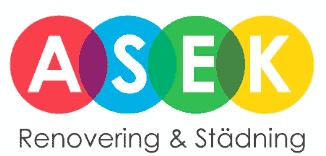 Logotyp för Asek Renovering och Städning AB