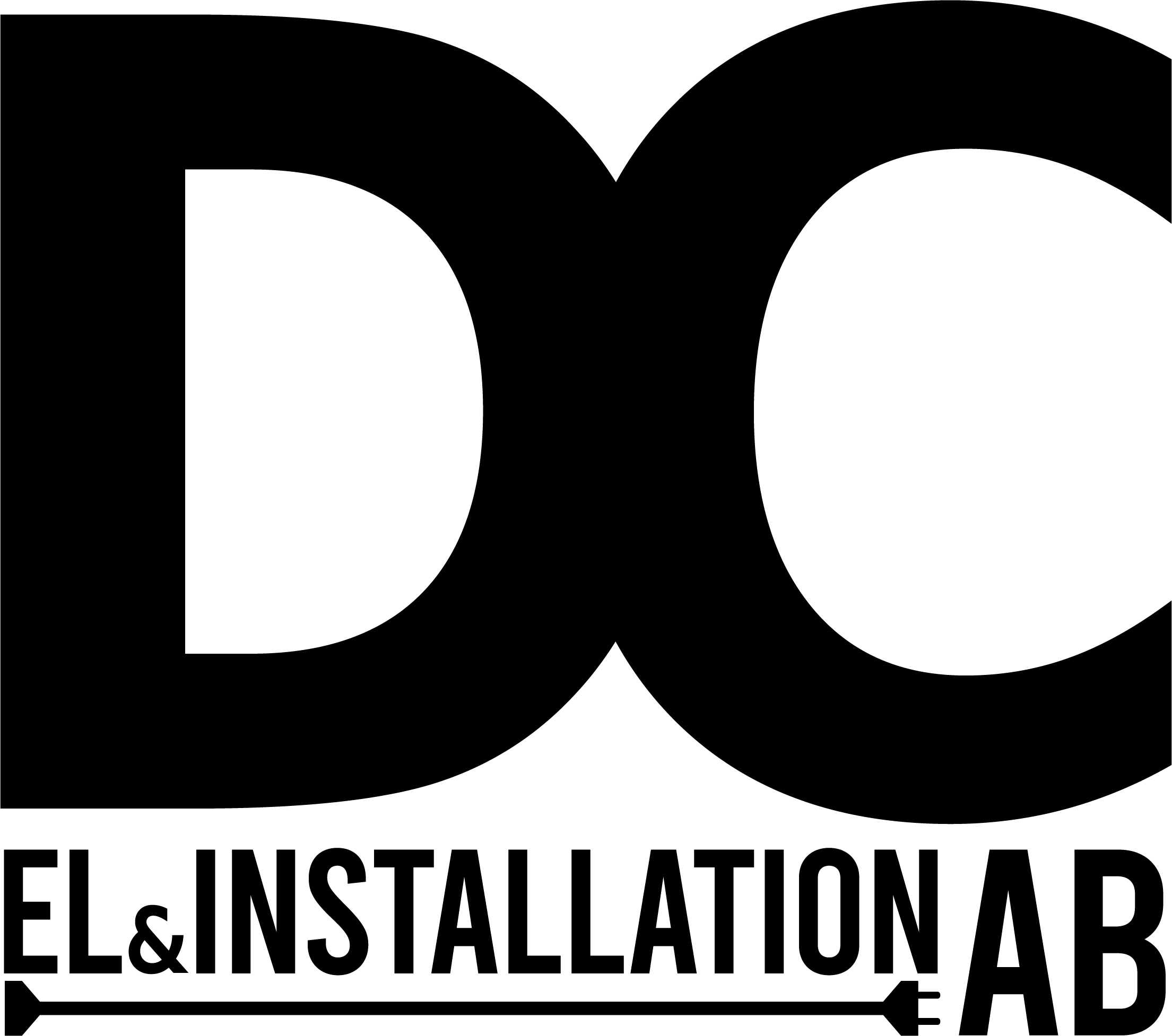 Logotyp för DC El och Installation AB