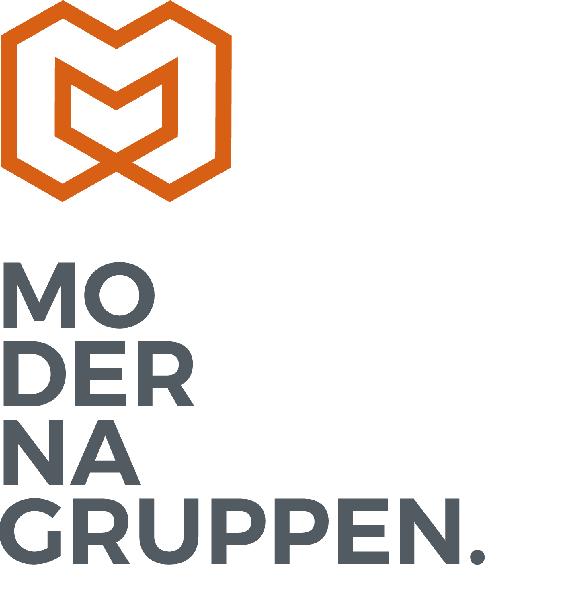 Logotyp för Moderna Gruppen i Stockholm AB