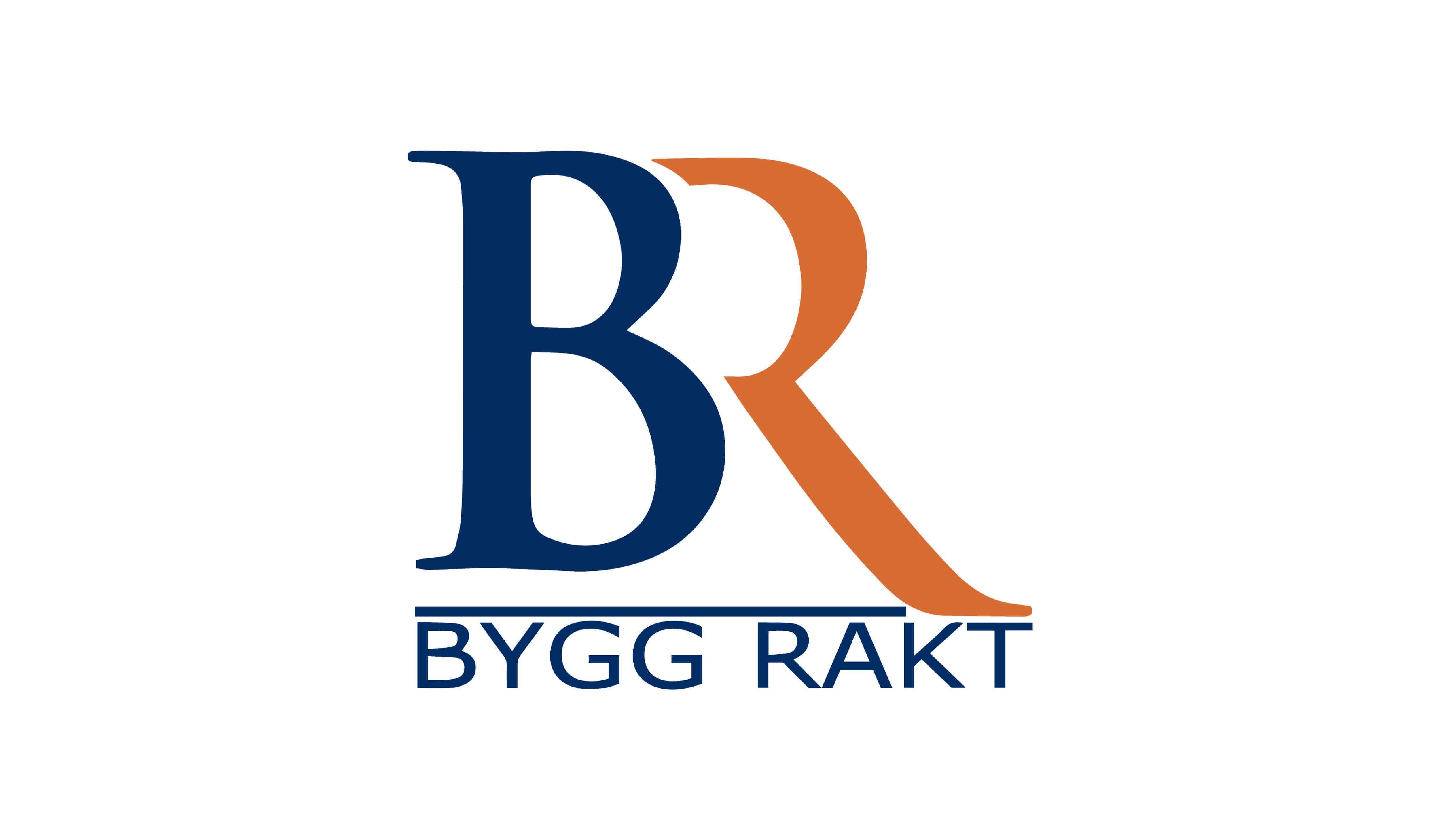 Logotyp för ByggRakt Stockholm AB