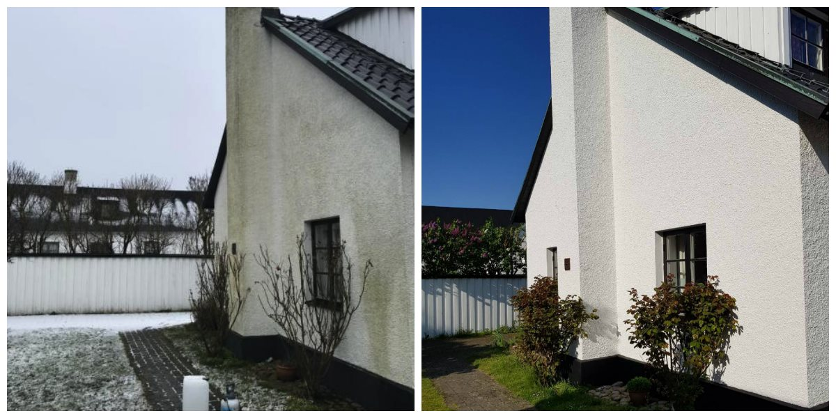 """Referensjobb """"Utomhusmålning"""" utfört av Swiss Metod AB"""