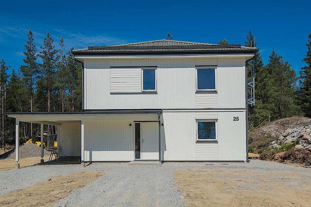 """Referensjobb """"Nybyggd villa."""" utfört av Ecodooria AB"""