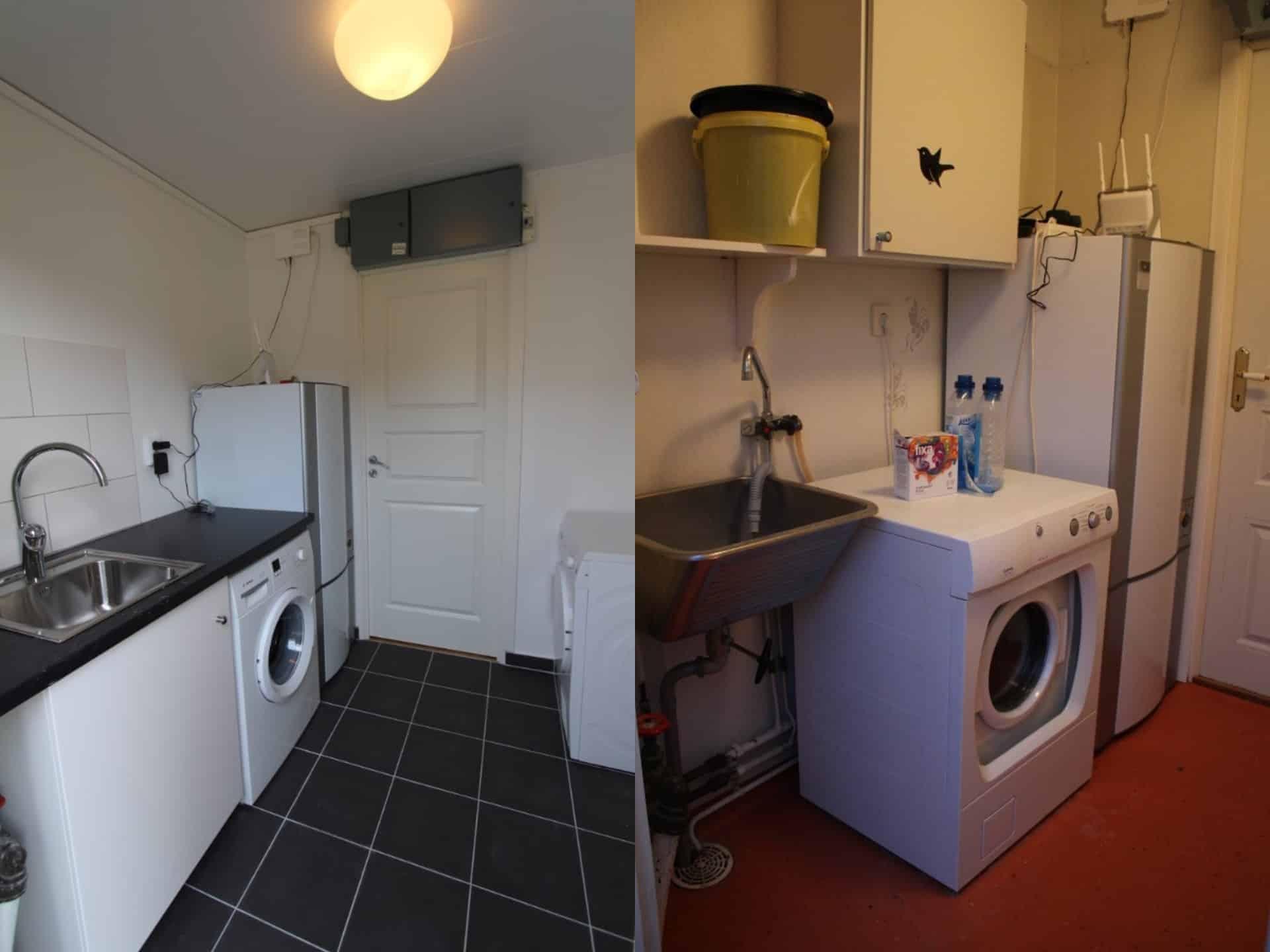"""Referensjobb """"Renovering av tvättstuga Efter/Före"""" utfört av PROFFSKOMPANIET STOCKHOLM AB"""