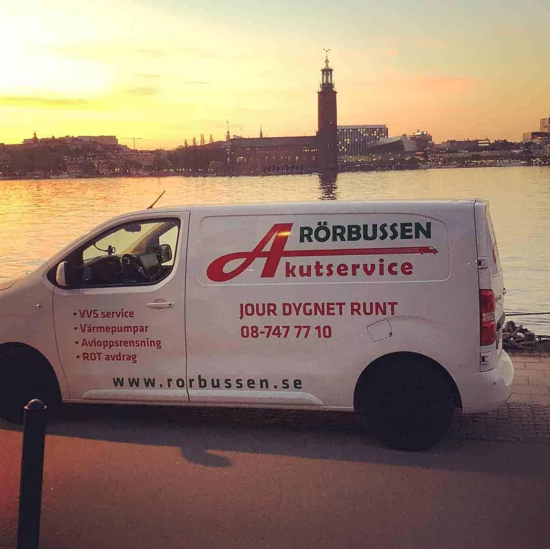 """Referensjobb """"Välkommen att kontakta oss!"""" utfört av Rörbussen Akutservice Stockholm AB"""