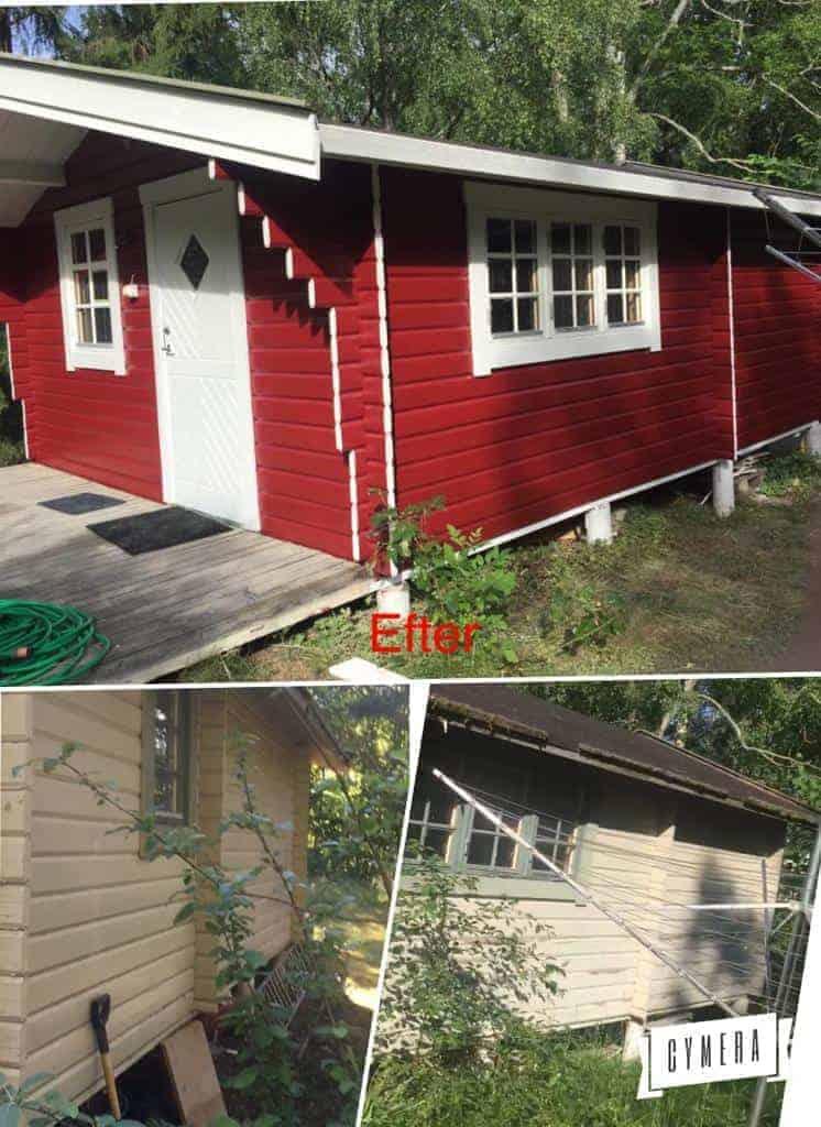 """Referensjobb """"Mållning av fasad i Täby"""" utfört av Emmur Bygg & Badrum HB"""