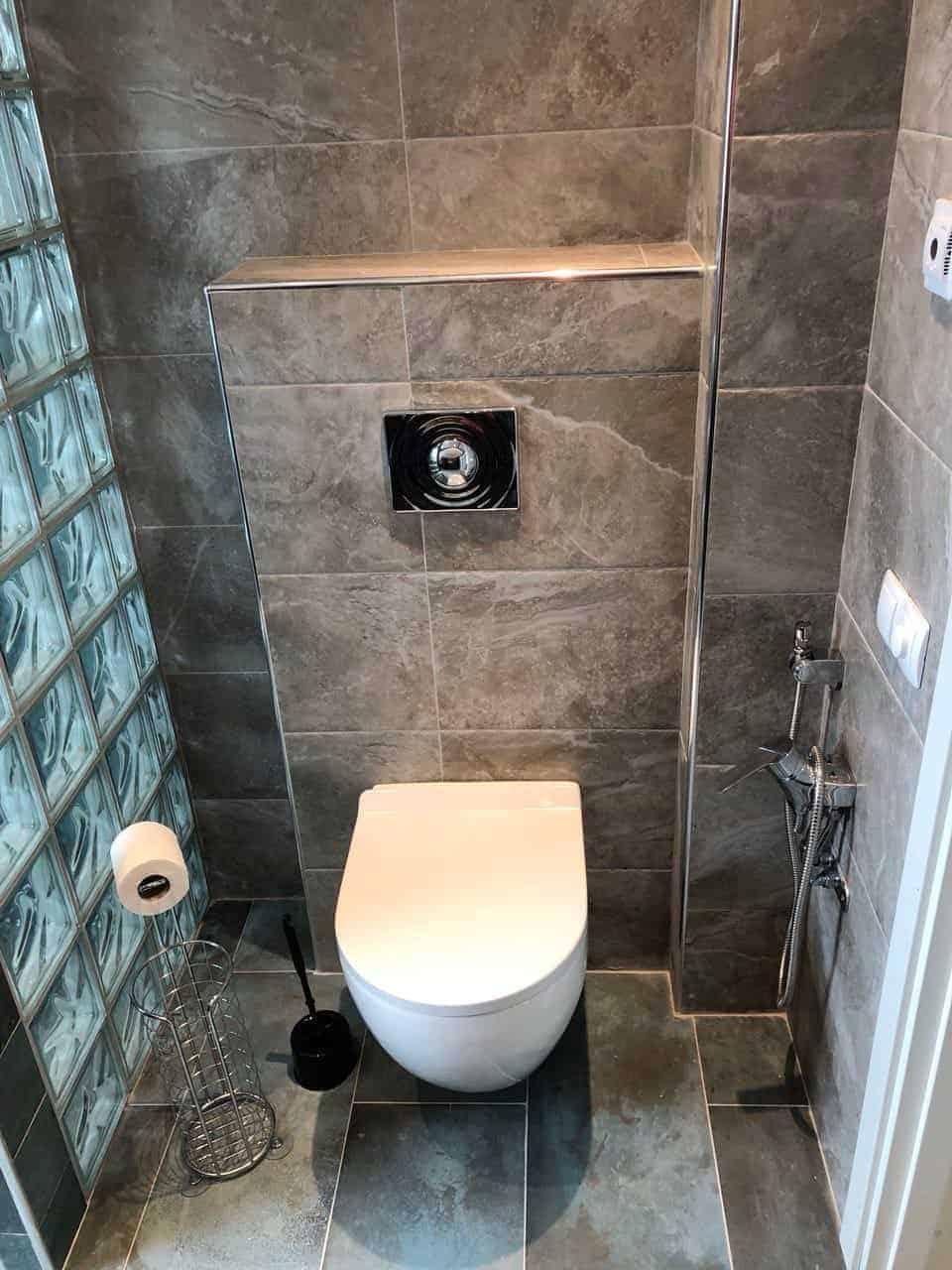 """Referensjobb """"Badrumsrenovering - Toalett"""" utfört av Skandinaviska VVS - Gruppen AB"""
