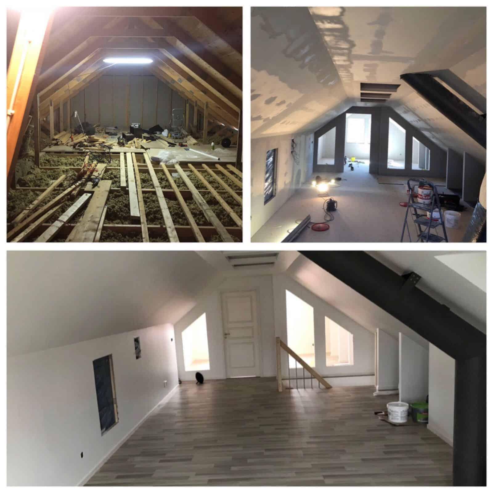 """Referensjobb """"Renovering övervåning"""" utfört av ByggBinaku i Halmstad AB"""