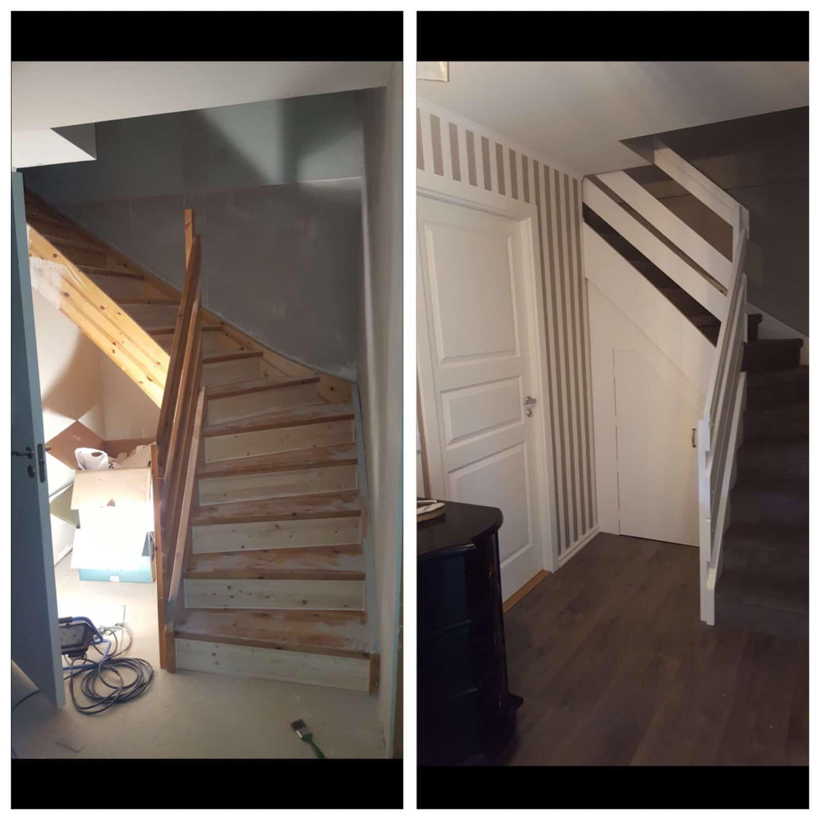 """Referensjobb """"Renovering, trappa"""" utfört av ByggBinaku i Halmstad AB"""