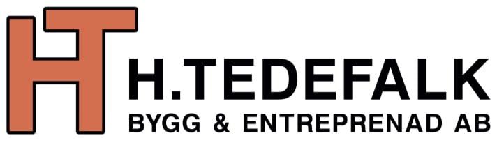 Logotyp för H. Tedefalk Bygg & Entreprenad AB