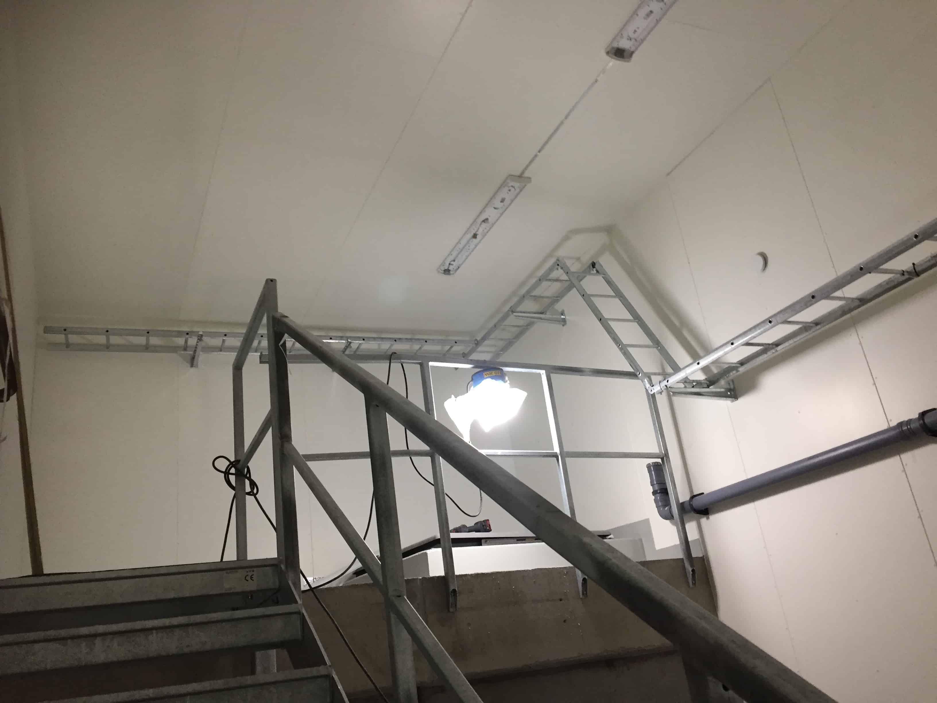 """Referensjobb """"Montering av kabelstegar och belysning """" utfört av Elantro El"""