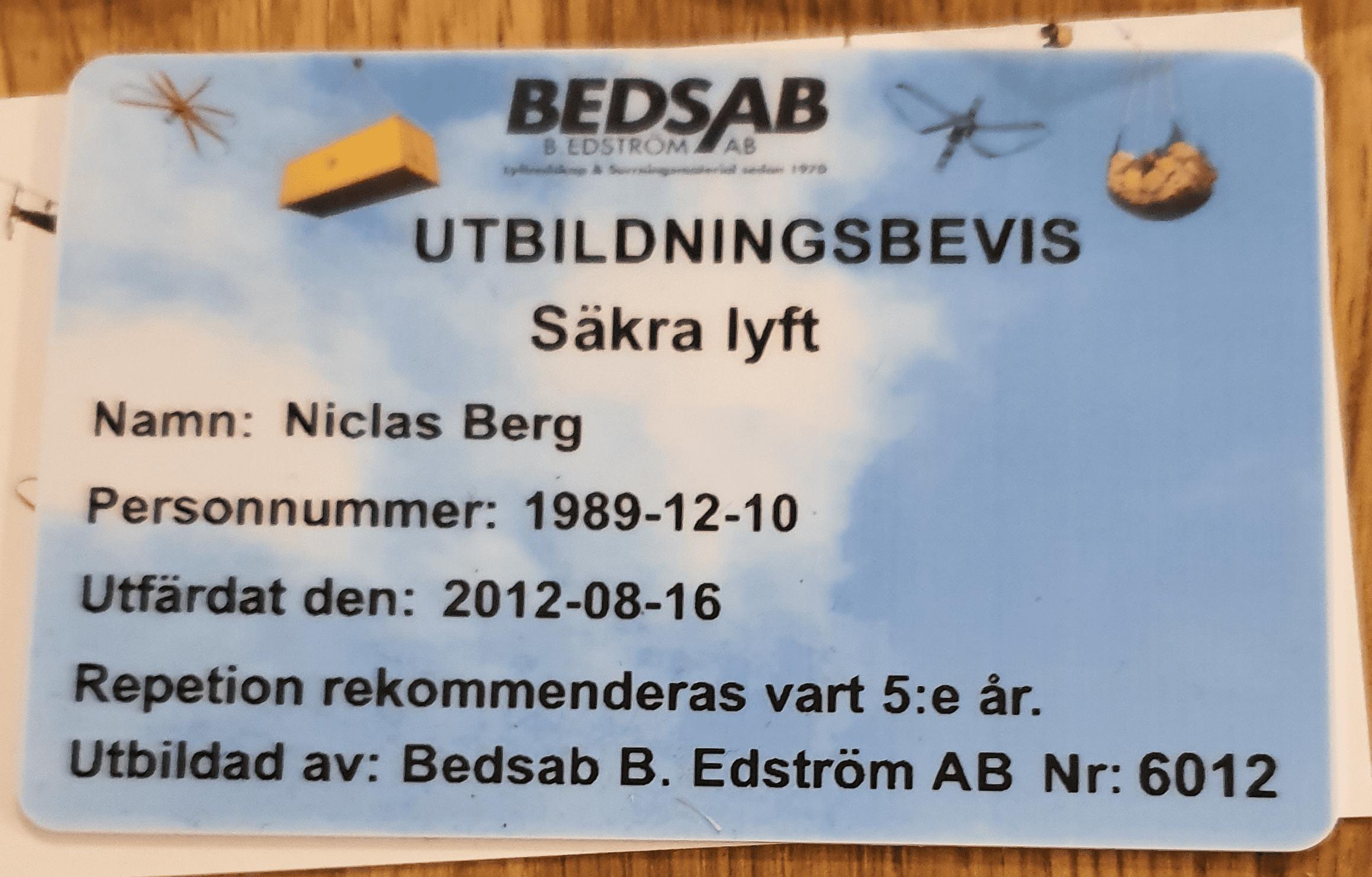 "Referensjobb """" utfört av Svenska Bygglaget AB"