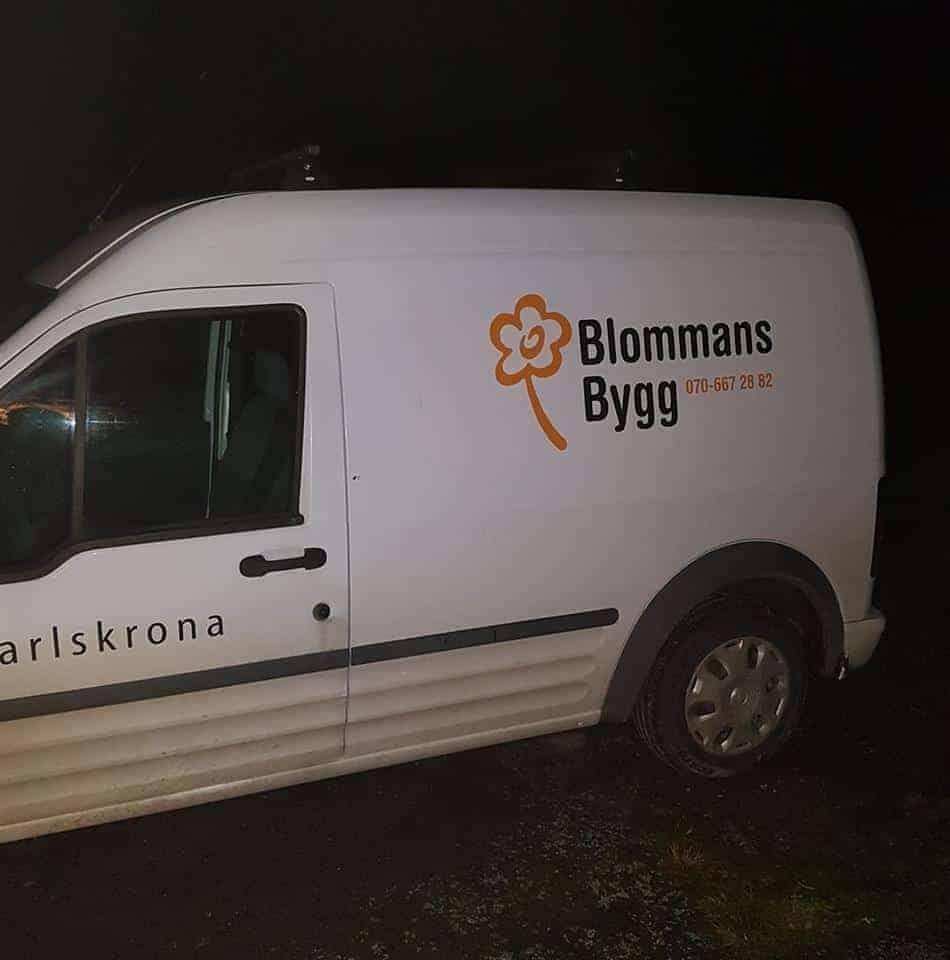 "Referensjobb """" utfört av Blommans Bygg"