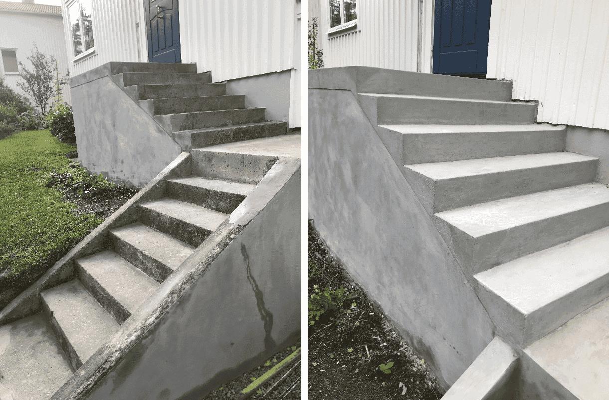 """Referensjobb """"Renovering samt gjutning av ny betongtrappa."""" utfört av Bygg och Renovering med Daniel"""