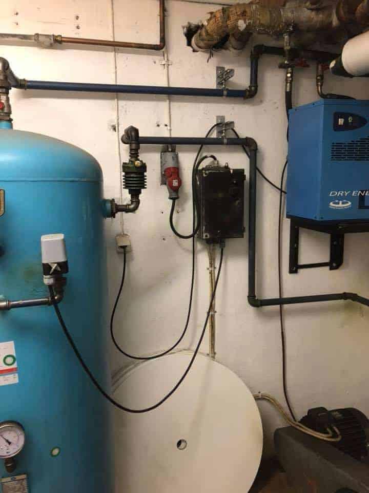 """Referensjobb """"Installation av ny kompressor,"""" utfört av ATAC Entreprenad & Montage"""