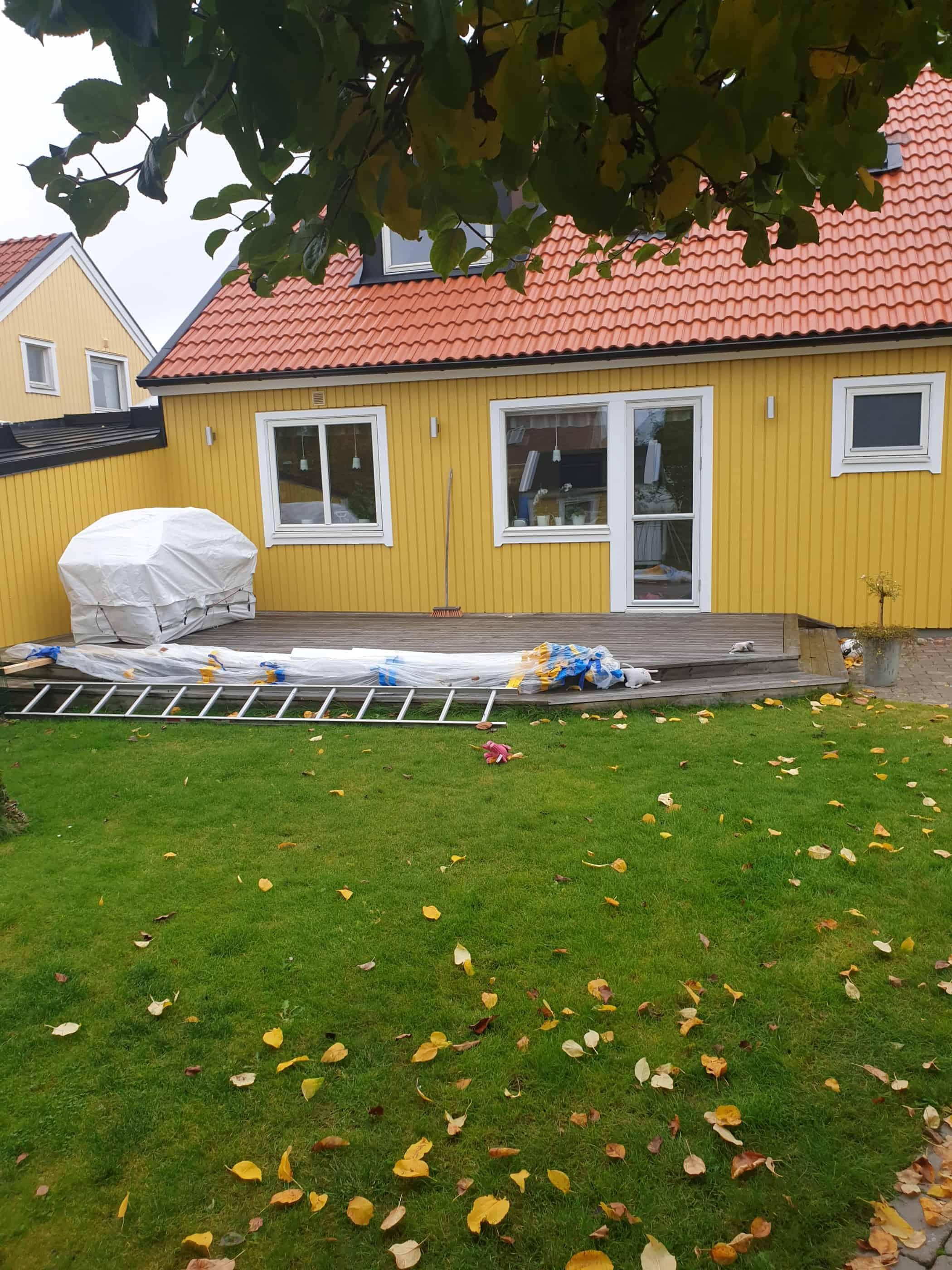 """Referensjobb """"Fasadrenovering, Täby"""" utfört av NKP Bygg Stockholm"""