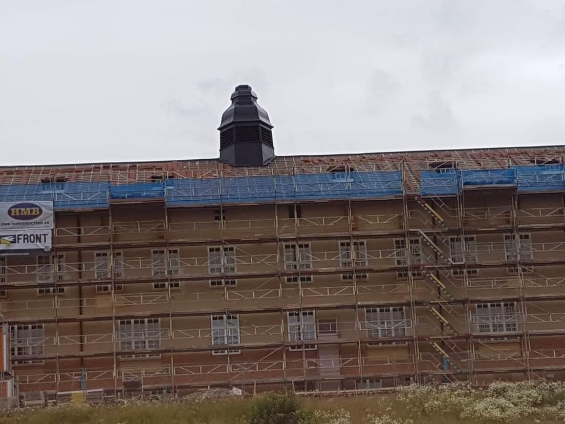 """Referensjobb """"Målning av tak torn gamla P10 i Strängnäs"""" utfört av Jumo Alltjänst AB"""