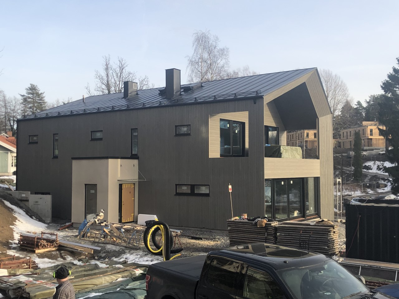 """Referensjobb """"Lösvirkes hus Värmdö"""" utfört av KGB Stockholm AB"""