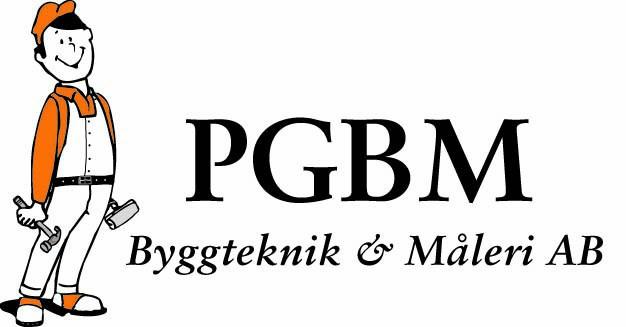 Logotyp för PGBM Byggteknik & Måleri AB
