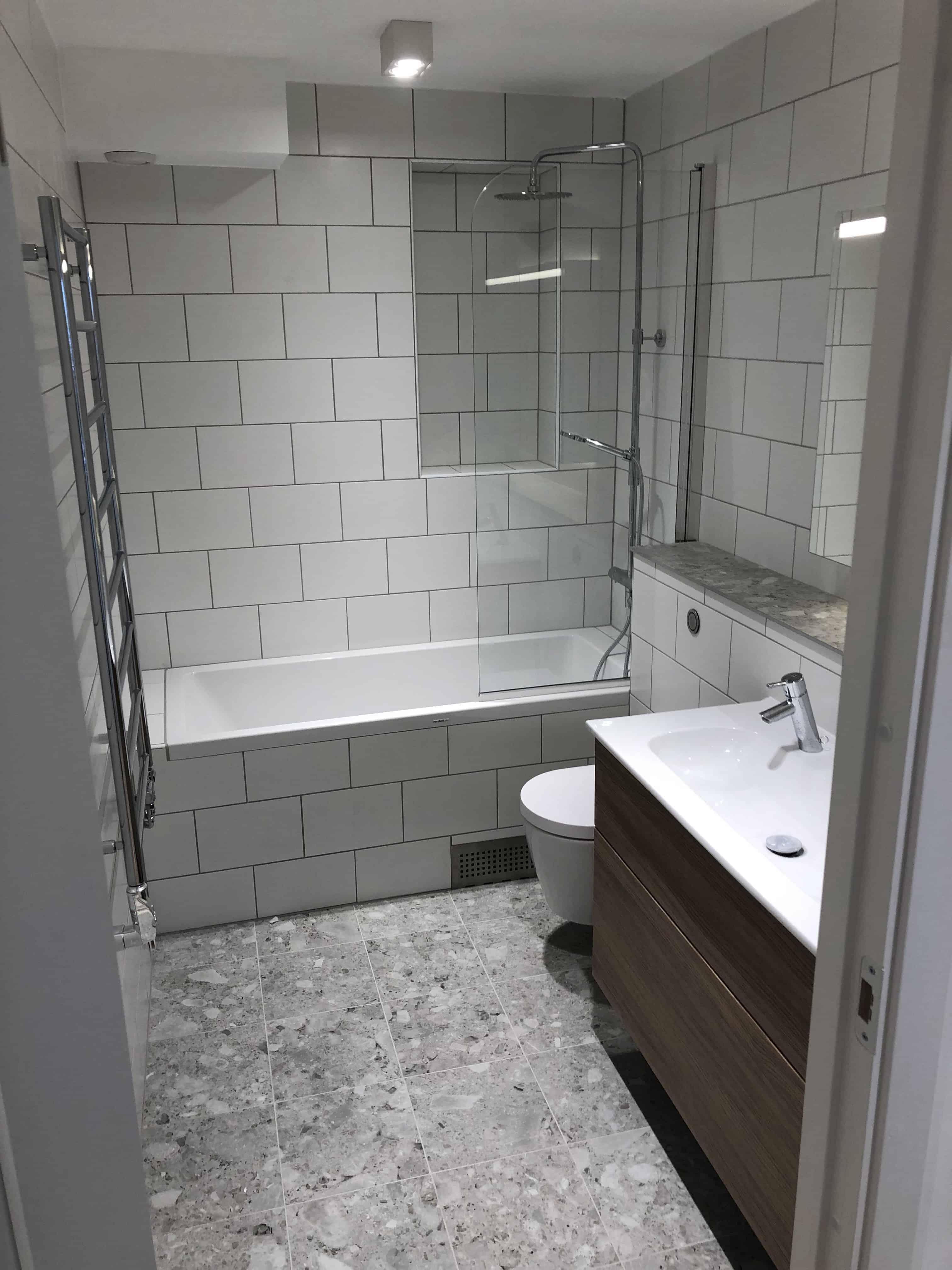 "Referensjobb ""Badrum Stockholm, 2019 "" utfört av Gregor Entreprenad i Åkersberga AB"
