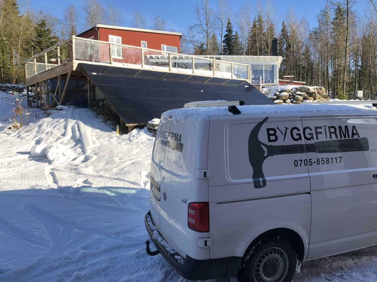 """Referensjobb """"Nybyggnation, altan samt isolering av friggebod."""" utfört av Byggfirma Hans Johansson i Borås"""