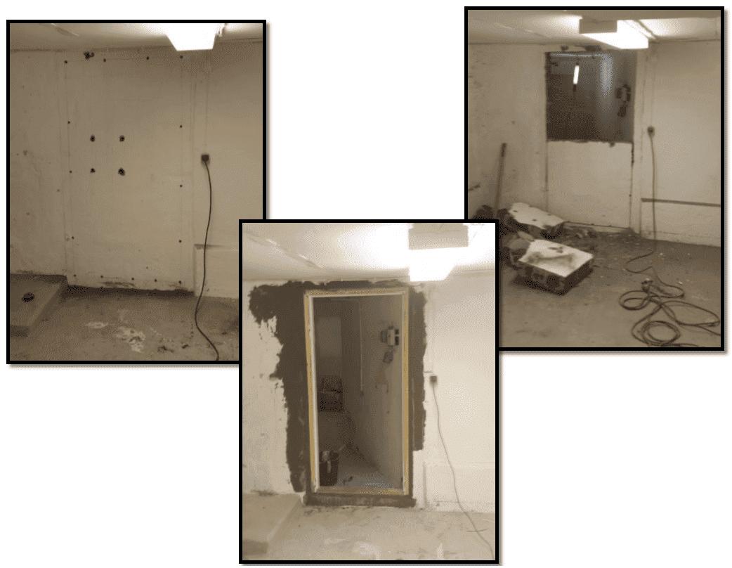 """Referensjobb """"Installation av en dörr mellan två källarrum"""" utfört av Snickare Alexander"""