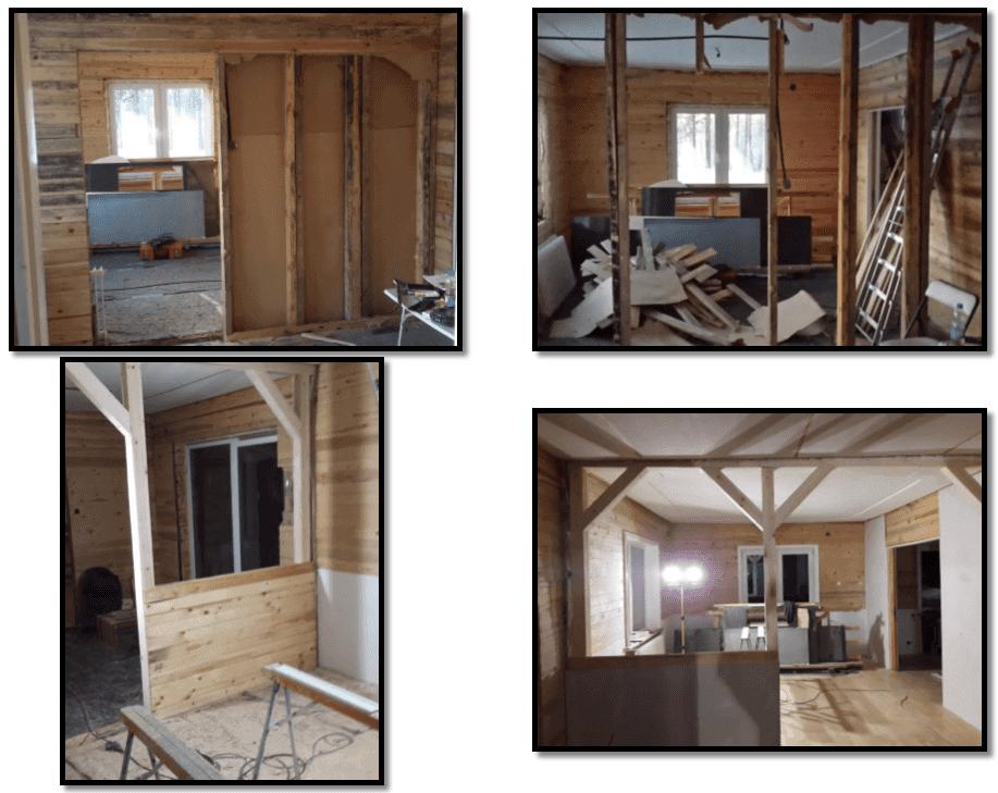 """Referensjobb """"Ta bort en gamla rumsvägg och bygga ny stödkonstruktion"""" utfört av Snickare Alexander"""