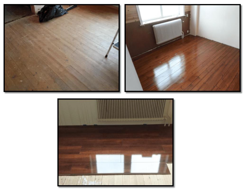 """Referensjobb """"Lägg nya golv och bearbeta gamla golv"""" utfört av Snickare Alexander"""