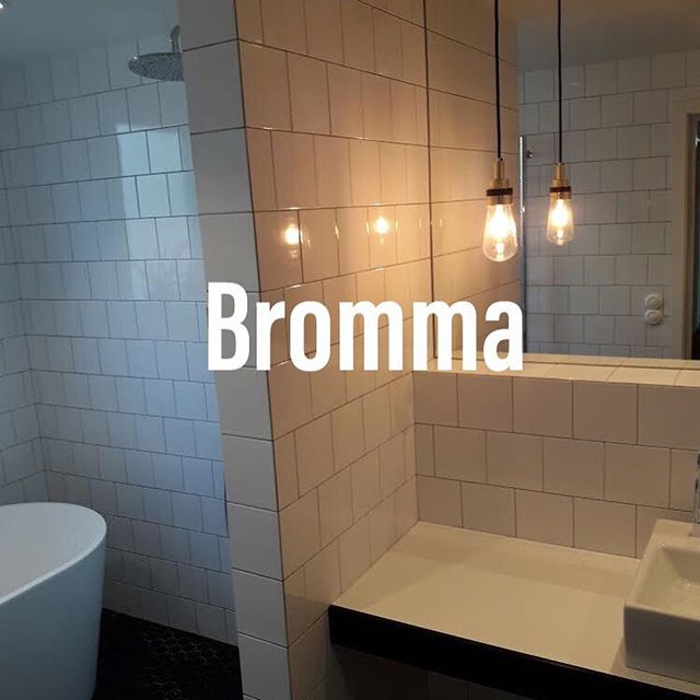 """Referensjobb """"Badrumsrenovering Bromma."""" utfört av ROT-Ville Aktiebolag"""