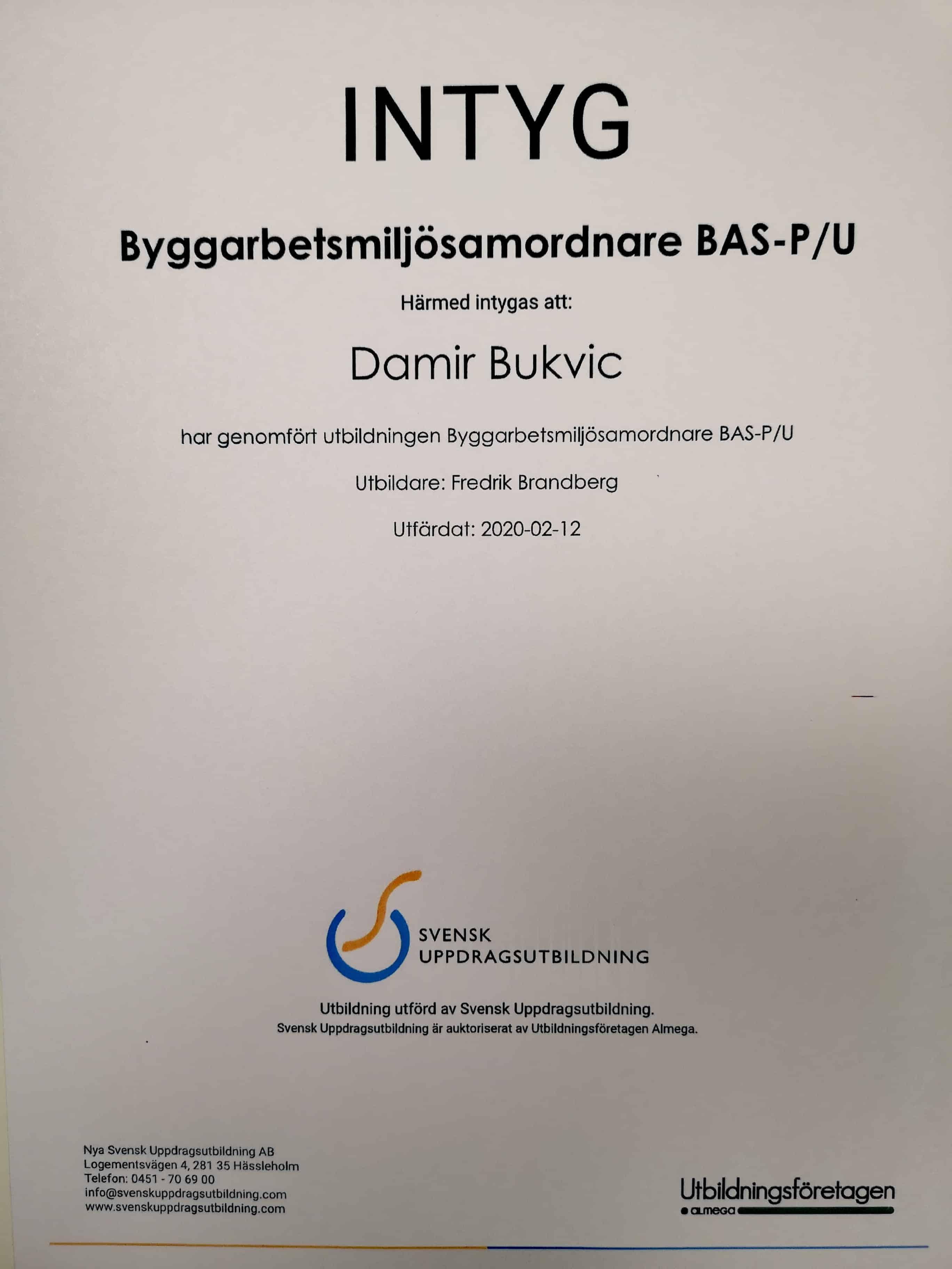 """Referensjobb """"Bas P & U"""" utfört av DNB Bygg & Fastighetsservice AB"""