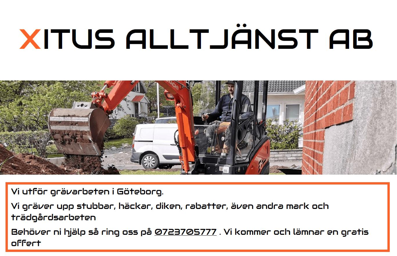 """Referensjobb """""""" utfört av Xitus Alltjänst AB"""