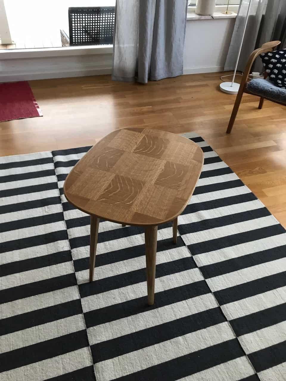 """Referensjobb """"Snyggt vardagsrumsbord"""" utfört av Eklund Finsnickeri AB"""