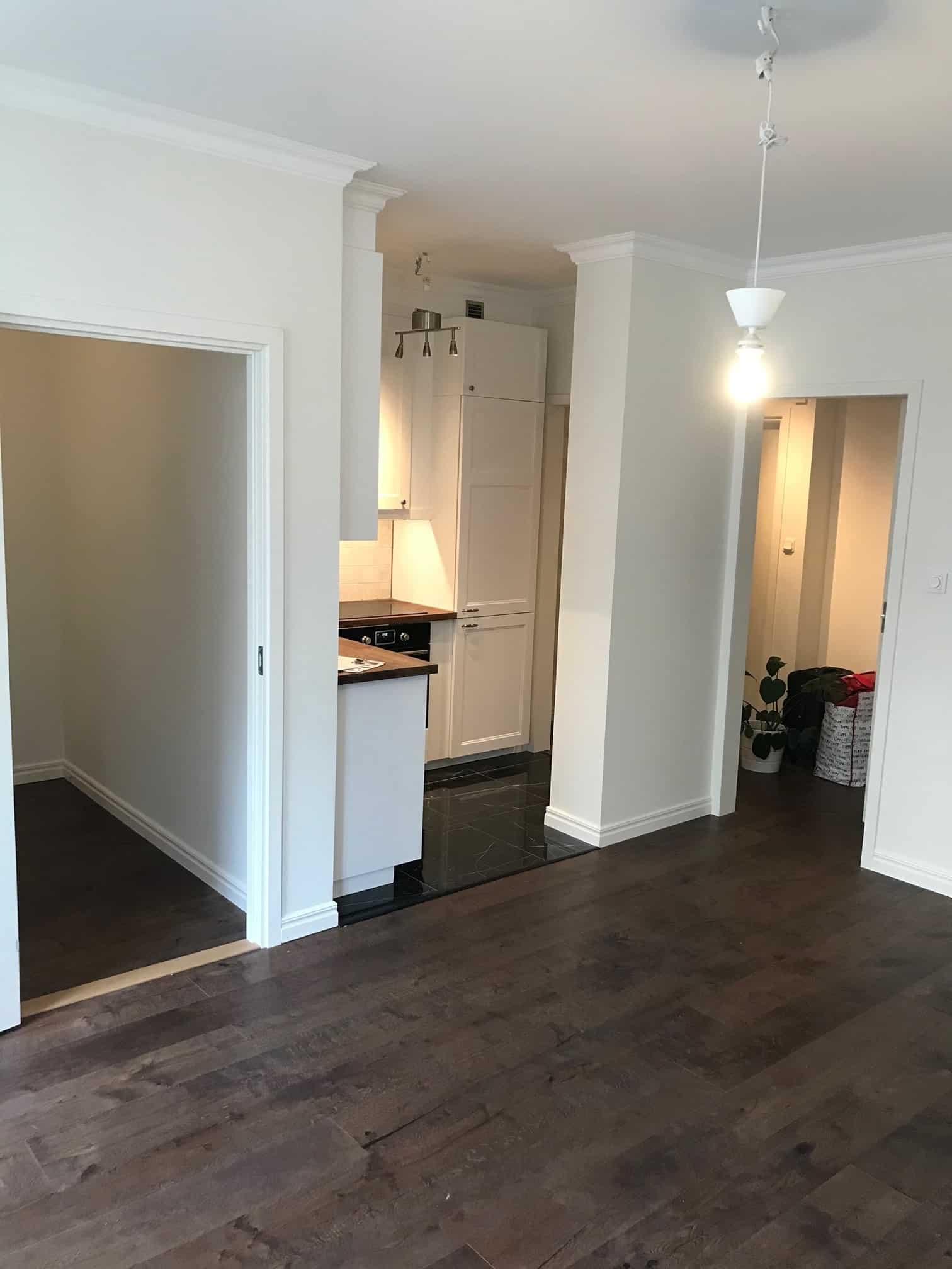 """Referensjobb """"Totalrenovering av lägenhet!"""" utfört av RKS Mark & Trädgård AB"""