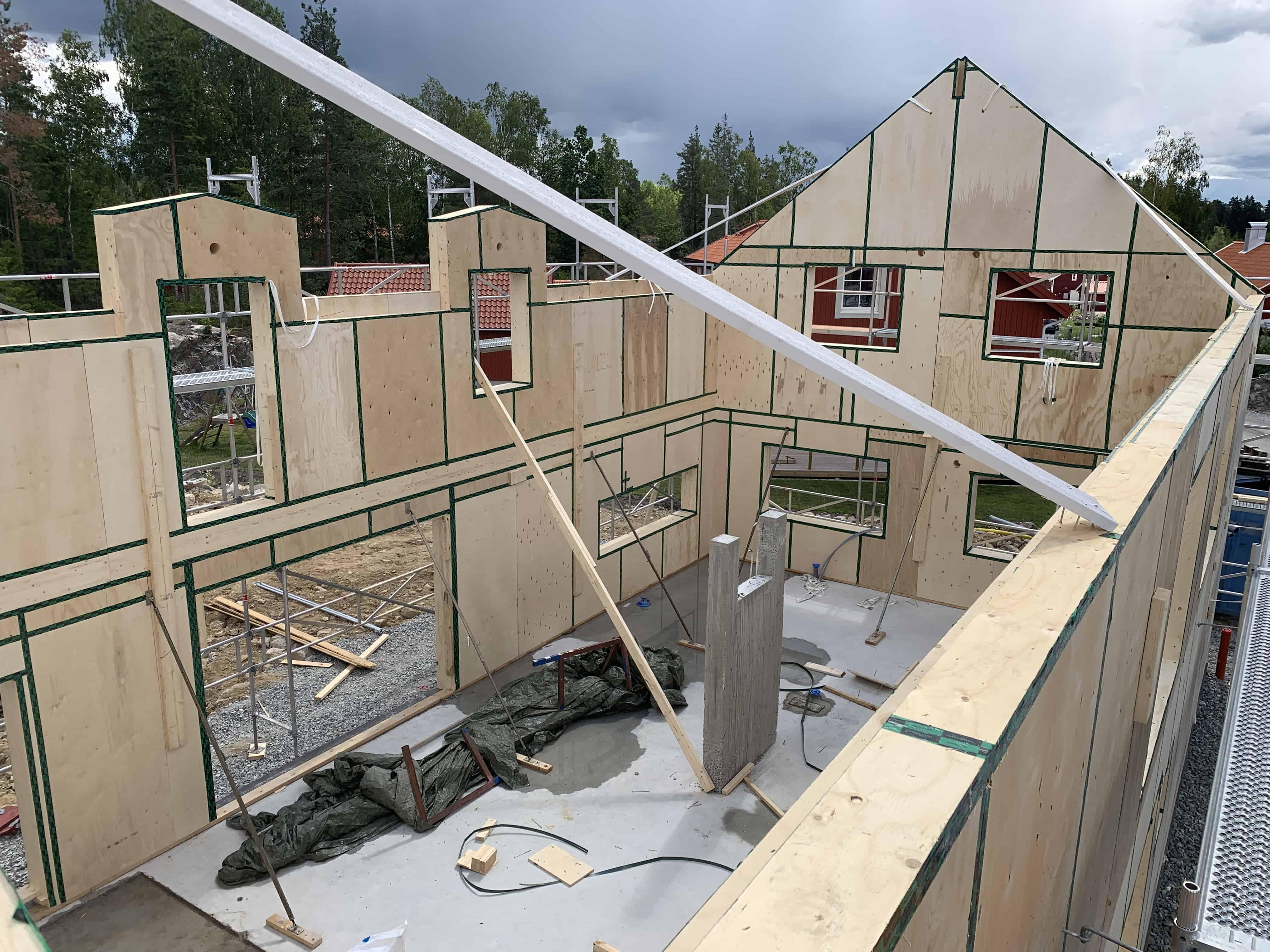 """Referensjobb """"Tvåvåningshus isotimber"""" utfört av GLDK Byggtjänst Handelsbolag"""