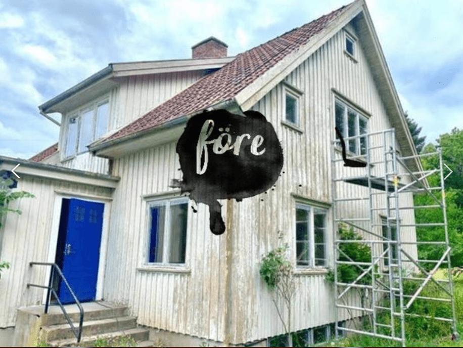 """Referensjobb """"Före målning"""" utfört av A.KB Måleri och Bygg"""