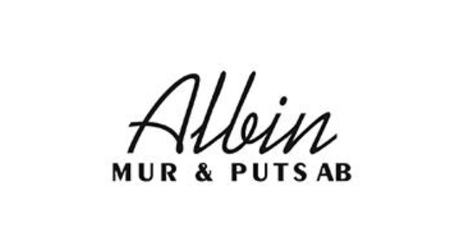 Logotyp för Albin mur & puts AB