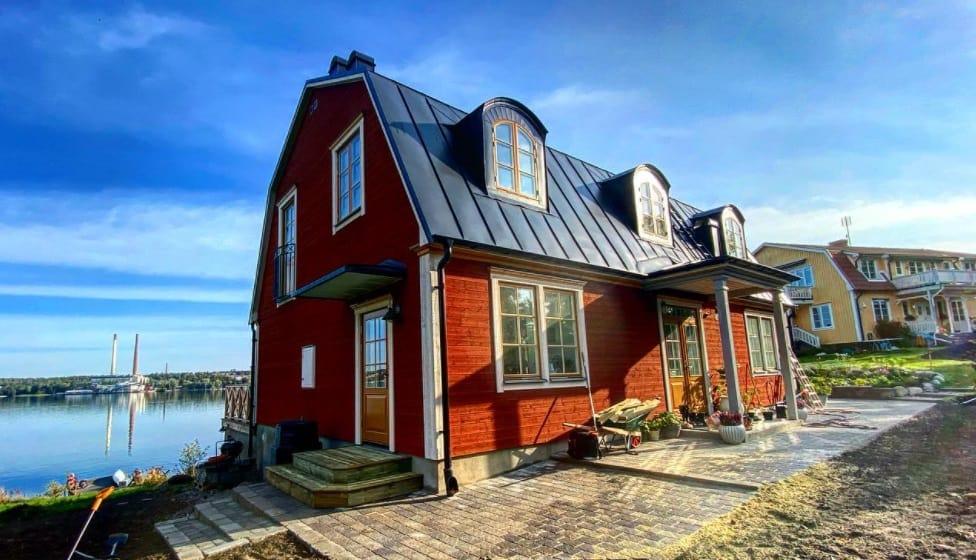 """Referensjobb """"Nybyggt hus från grunden."""" utfört av AKSE Design & Bygg Handelsbolag"""