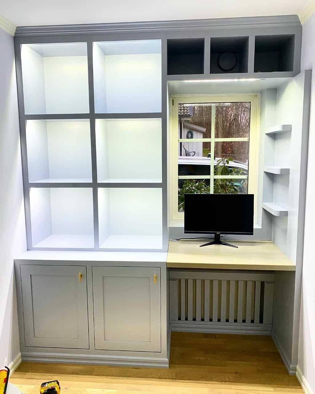 """Referensjobb """"Platsbyggt hemmakontor"""" utfört av AKSE Design & Bygg Handelsbolag"""